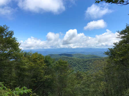 Beautiful mountain view from Hooper Bald off the Cherohala Skyway in North Carolina. Stok Fotoğraf