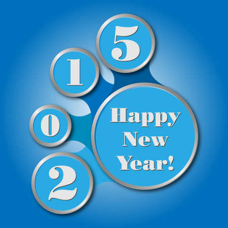 happy new year 2015 - created as infographics in blue colors Vector