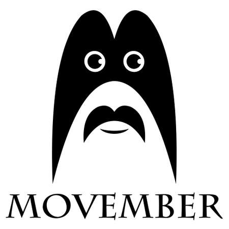 salubrity: Movember - the head of a man with a black mustache and a mask Illustration