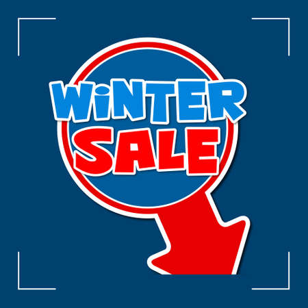 remnant: winter sale - information sign with red arrow and text