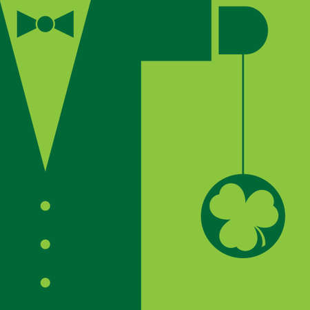ulster: Green mens suit with bow tie and yo yo shamrock