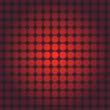 lighting background: red and black transparent square and circle grid with transparent circles and background with red transition