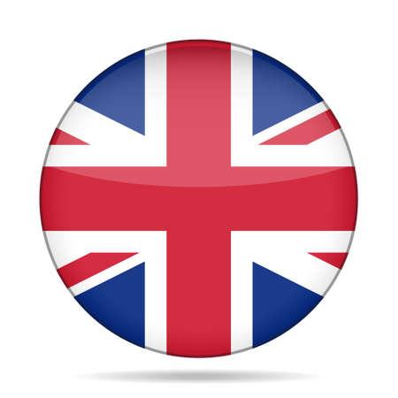 イギリスの国旗のボタン