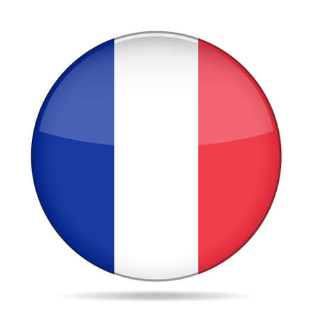 button with national flag of France