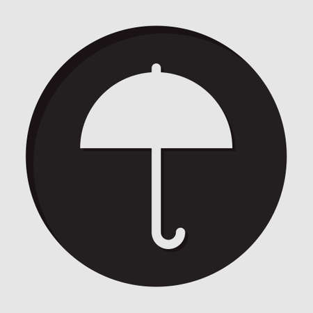 brolly: information icon - dark circle with white umbrella and shadow