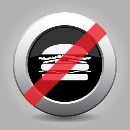 banned: gray button with no hamburger - banned icon