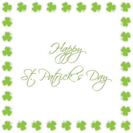 patron saint of ireland: Saint Patricks Day - greeting card with Shamrocks