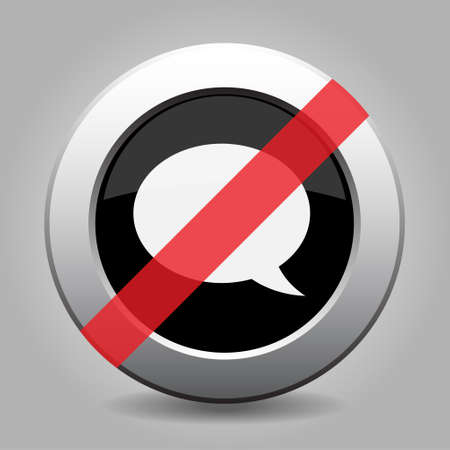 banned: gray button with no speech bubble - banned icon