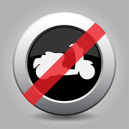 chrome: gray chrome button with no scooter - banned icon Illustration