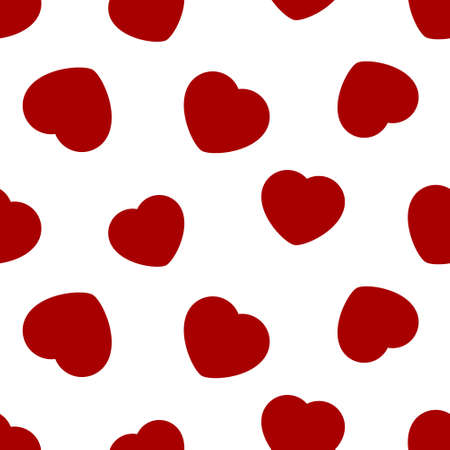 seamless pattern, wrapping paper - isolated red hearts Illustration