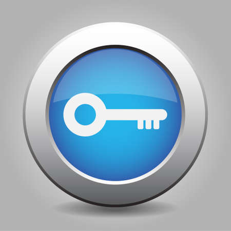 unprotected: blue metal design- with white key icon