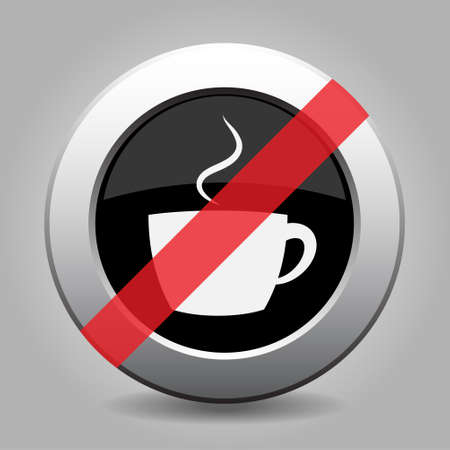 banned: gray button with no cup with smoke - banned icon
