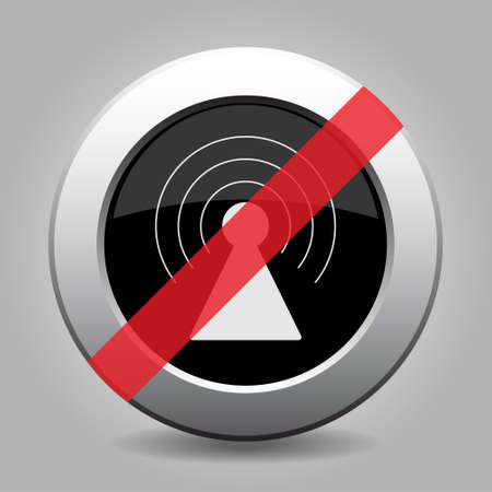 interdict: gray chrome button with no transmitter - banned icon