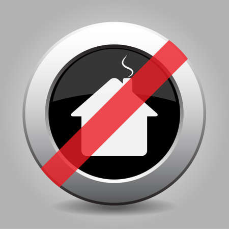 banned: gray chrome button with no home - banned icon