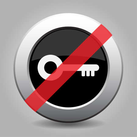 banned: gray chrome button with no key - banned icon