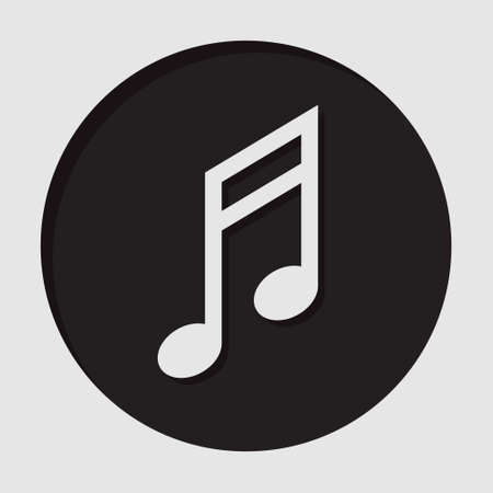 semiquaver: information icon - dark circle with white musical note and shadow