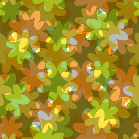 translucent: abstract floral seamless pattern with translucent colors Illustration