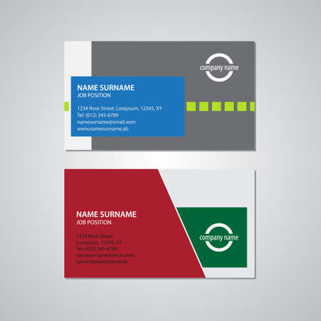 2 50: set of two business cards - Canada and USA standard, 3,5 x 2 in, 88,9 x 50,8 mm