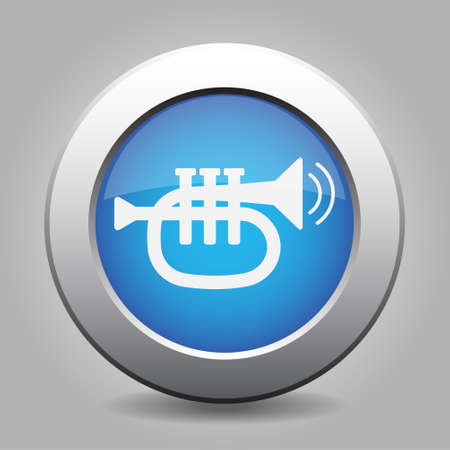 vibration: black icon - trumpet, sound and two vibration waves with white stylized shadow