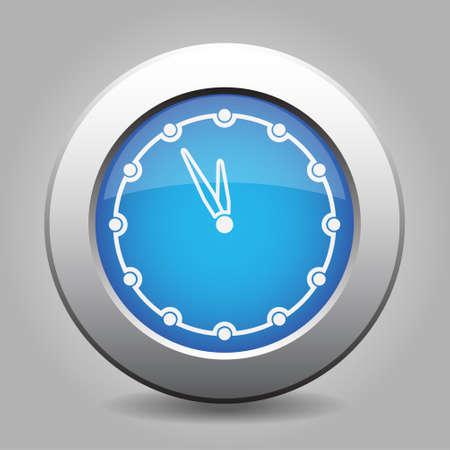 metallic button: Blue metallic button with shadow. White last minute clock icon.
