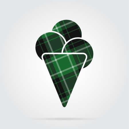 Green cone design.