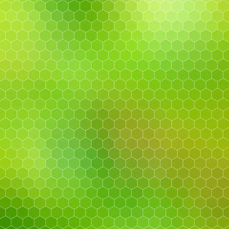 abstract geometric hexagon grid - background illustration from the shades of green