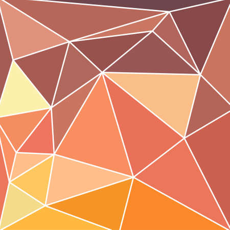 triangular multicolor abstract stained glass grid with white outline in shades of yellow, beige, brown, orange and ocher