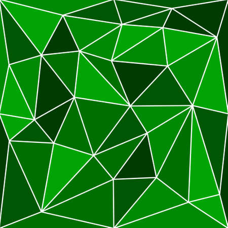 triangular multicolor abstract stained glass grid with white outline in shades of green Vektorové ilustrace
