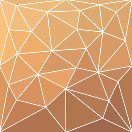 triangular multicolor abstract stained glass grid with white outline in shades of beige and brown Illustration