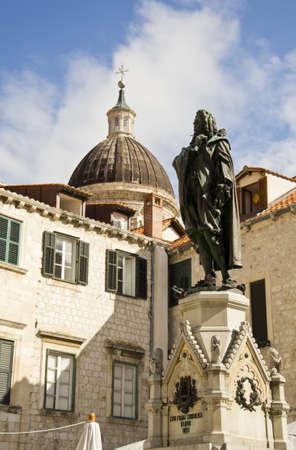 francesco: Statue at Francesco Giovanni Gondola Square Dubrovnik, Croatia