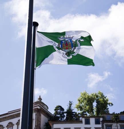 oporto: Oporto Flag Stock Photo