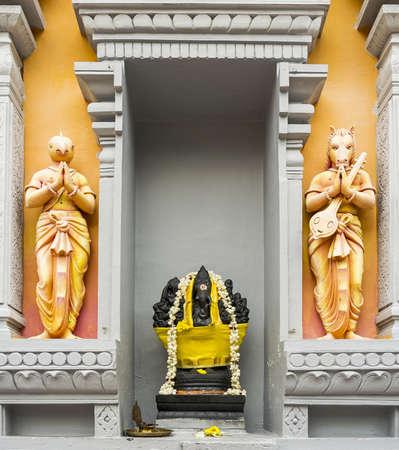 saraswati: Black Elephant with Bird and Horse Hindu Gods