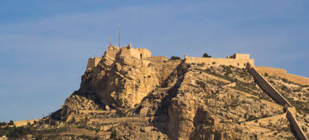 Santa Barbara Castle placed over  the mountain in Alicante photo