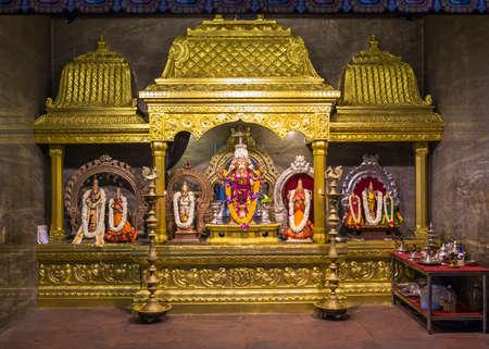 goddesses: Hindu Religion Representatives with Goddesses and Elephants