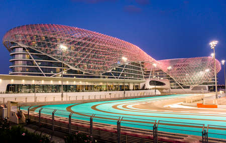 abu dhabi: Yas Viceroy Hotel Abu Dhabi United Arab Emirates Editorial