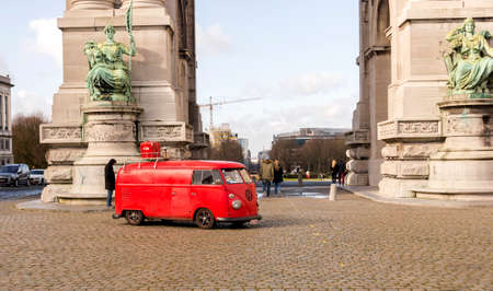 BRUSSELS, BELGIUM - FEBRUARY 16: A Sheik Wants To Buy The President Of Uruguay VW Beetle For 1 Million. Old Fashion VW Transporter Camper in Brussels on February 16, 2012 in Brussels, Belgium.
