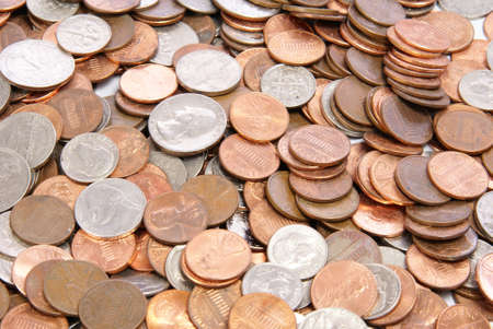 American coins background, texture, or concept