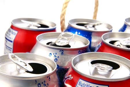 Recycle concept. Aluminum cans closeup for use as background or concept