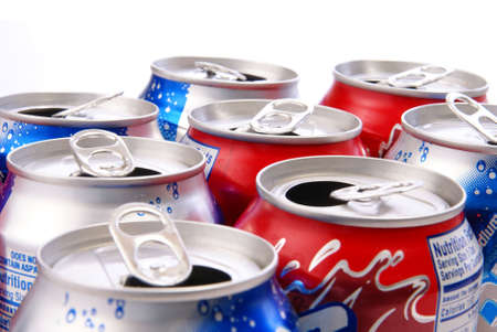 Recycle concept. Aluminum cans closeup for use as background or concept photo