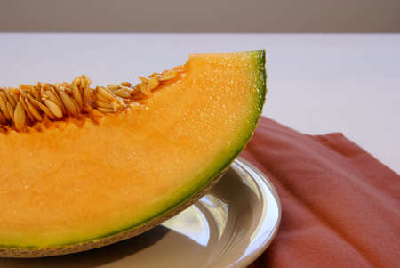 Cantalope slice with seeds