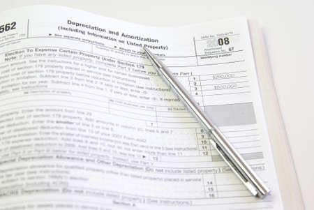 depreciation: Depreciation and Amortization tax form, United States