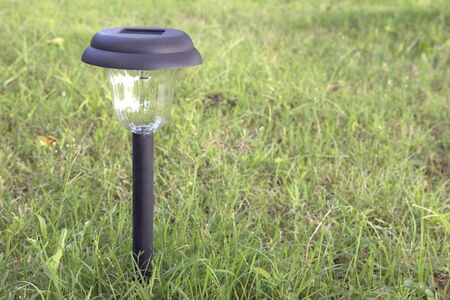 Close-up of solar powered garden light. Stock Photo - 12459234