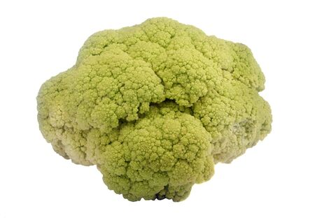 Close-up of cauliflower vegetable, isolated on white, no shadows. Stock Photo - 12932059