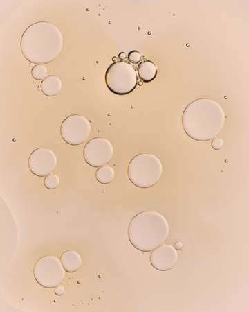 oil drops on a white background