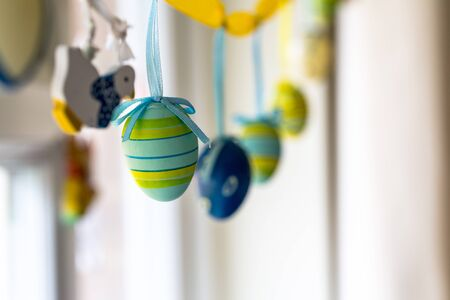 pleasure craft: Easter handmade ornaments at home Stock Photo