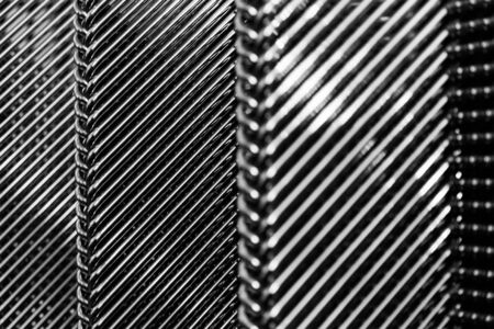 typ: Metalic chairs make geometric regular shapes