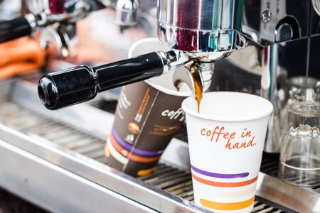 Making take away coffee