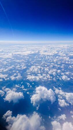 sawn: Clouds and earth sawn from sky Stock Photo