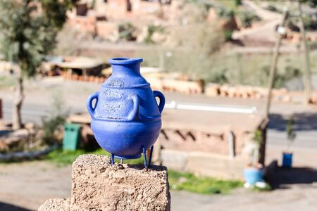 Old clay ceramic vase Stock Photo