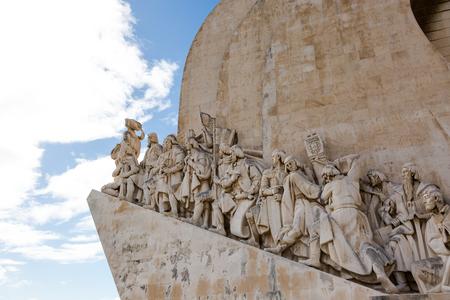 conceived: Padrão dos Descobrimentos. Monument to the great Portuguese travelers in Lisbon. The monument was conceived in 1939 by Portuguese architect José �ngelo Cottinelli Telmo, and sculptor Leopoldo de Almeida. 27 October 2015